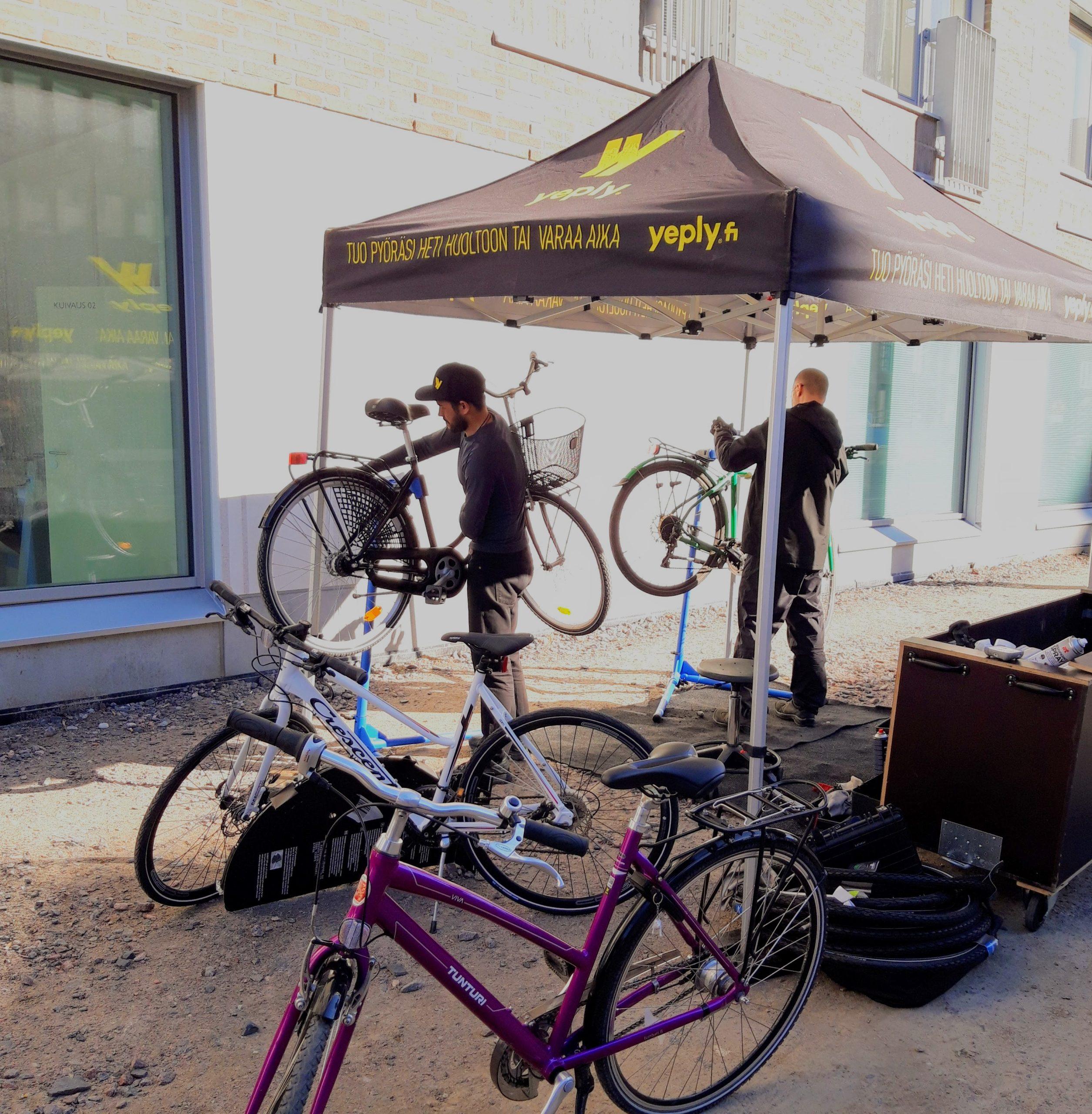 Polkupyörät kuntoon kesää varten